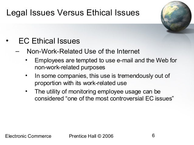 ethical issues in electronic commerce Introduction according to irtaimeh and al-hawary (2011), e-commerce is a revolutionary addition to the strategic imperatives in the modern-day marketplace.