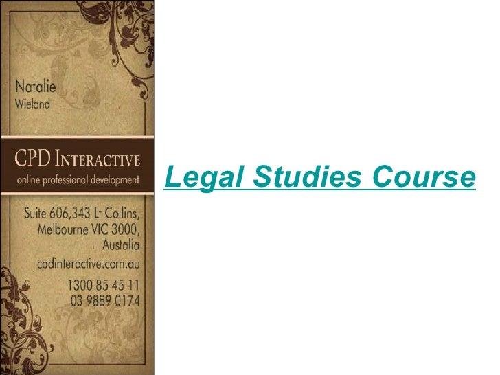Legal Studies Course
