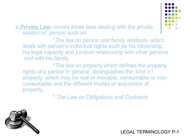 classifications of law substantive and procedures Common law is generally  such codes distinguish between different categories of law: substantive law establishes which acts are subject to criminal or.