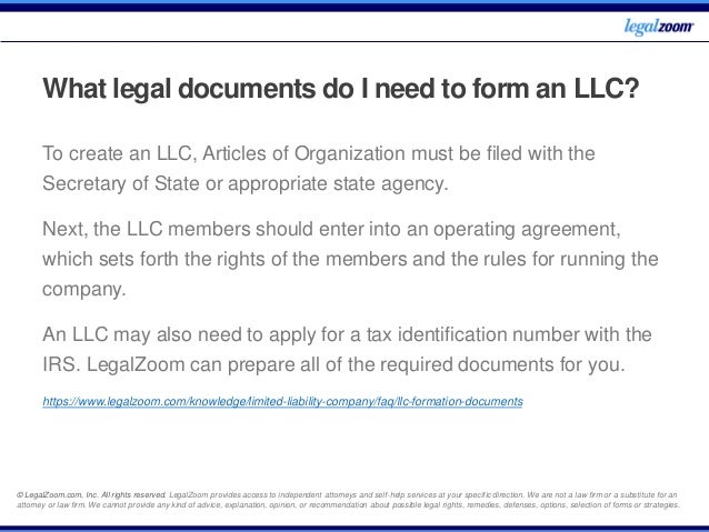 LLC - Frequently Asked Questions - Legal Zoom