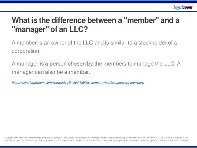Llc Frequently Asked Questions Legal Zoom