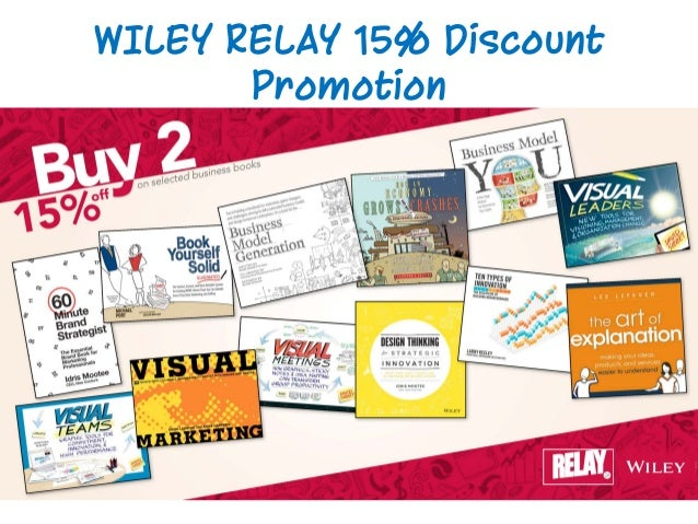 WILEY RELAY 15% Discount Promotion