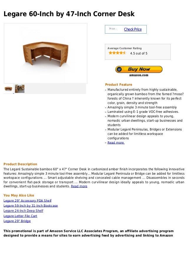 Legare 60-Inch by 47-Inch Corner Desk                                                                      Price :        ...