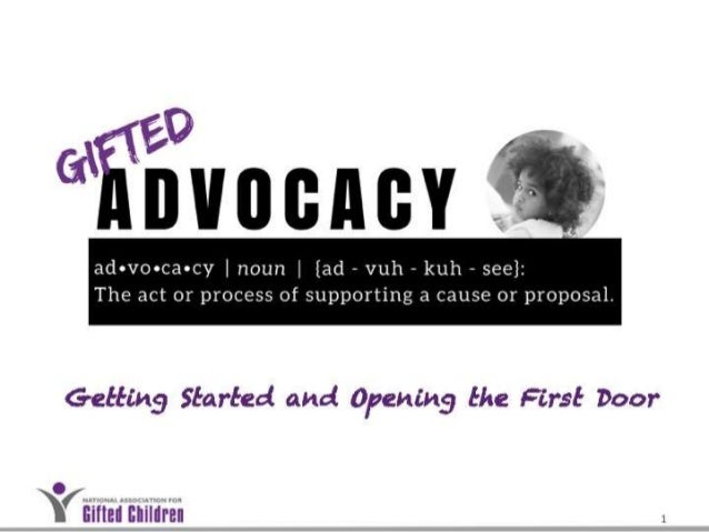 Intro to Gifted Advocacy