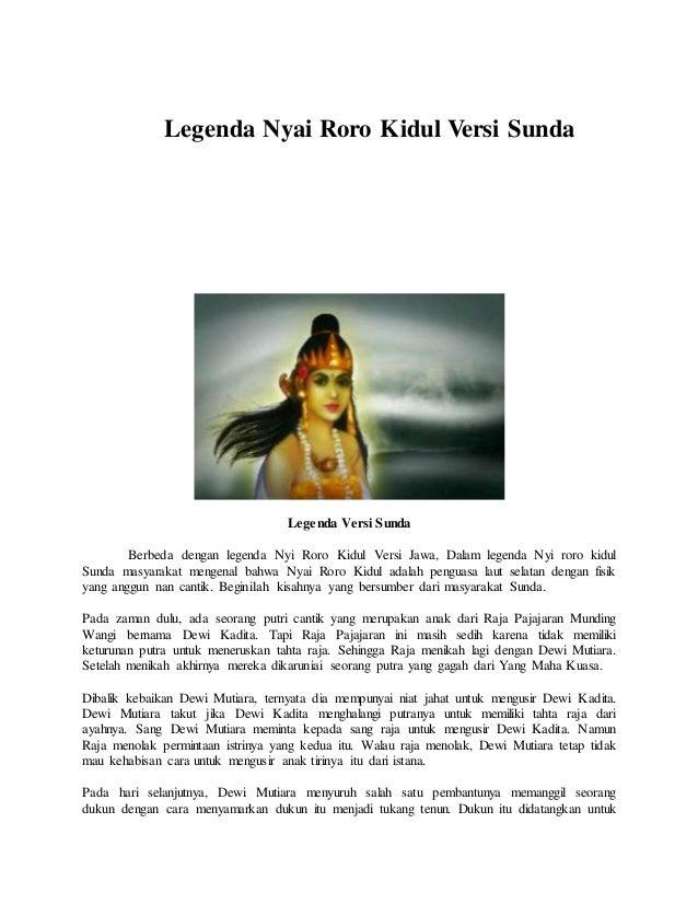 Legenda Nyai Roro Kidul Versi Sunda