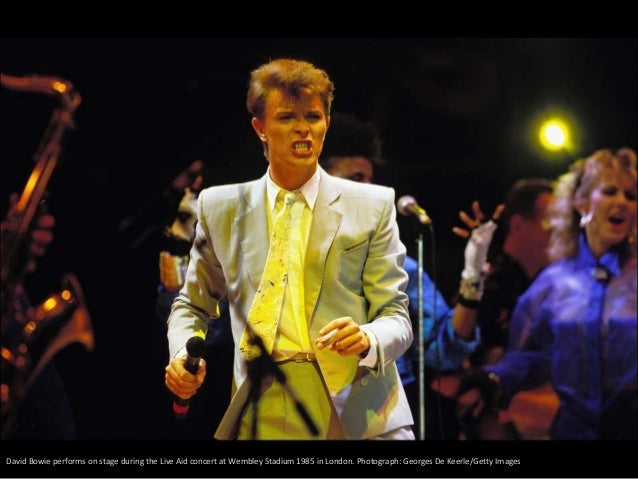 The British musician David Bowie during a concert at the Montreux Jazz Festival (Switzerland) in 2002. FABRICE COFFRINI (E...