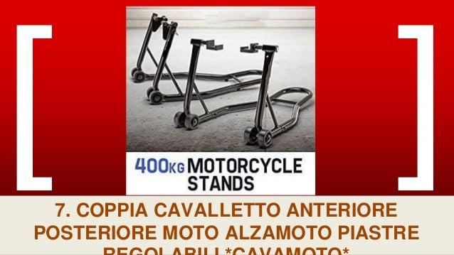COPPIA CAVALLETTO ANTERIORE POSTERIORE MOTO ALZAMOTO PIASTRE REGOLABILI *CAVAMOTO*