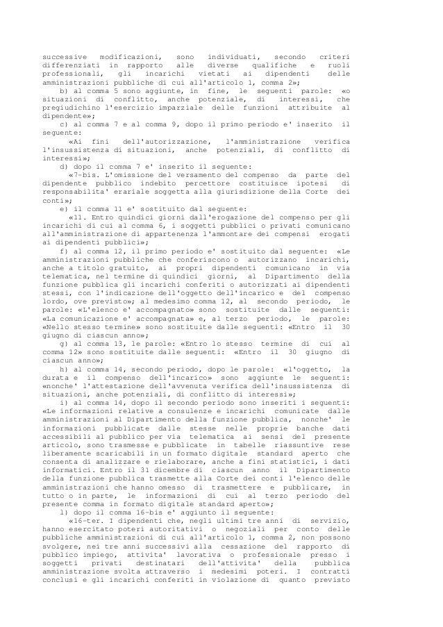 Legge 190 2012 anticorruzione for Aggiunte di legge