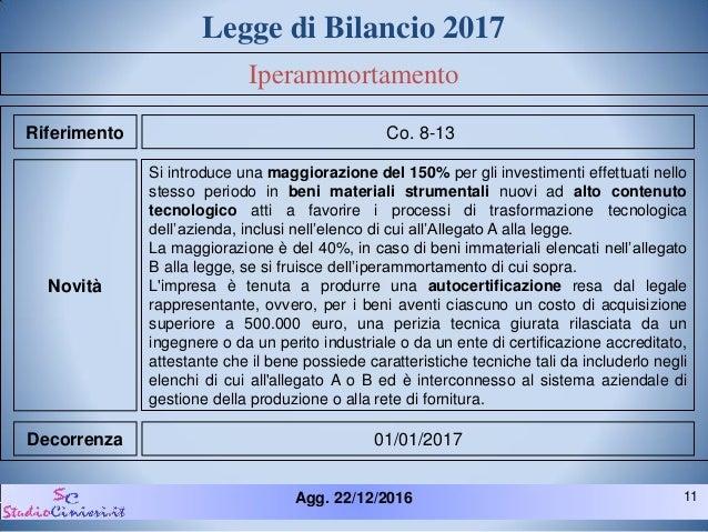 Legge bilancio 2017 novit fiscali for Elenco scadenze fiscali 2017