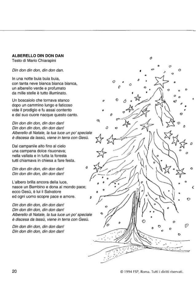 L'albero di natale testo