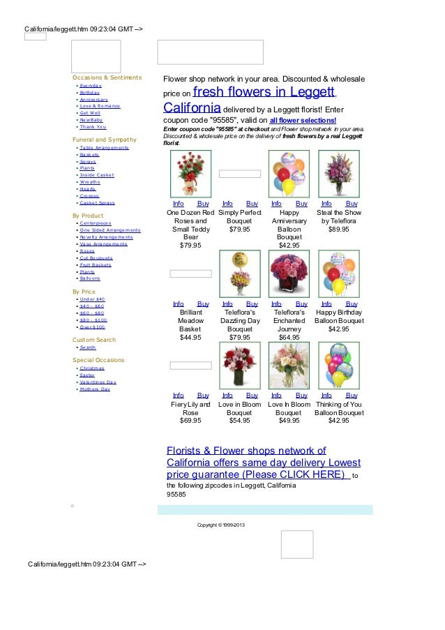 California/leggett.htm 09:23:04 GMT -->               Occasions & Sentiments           Flower shop network in your area. D...
