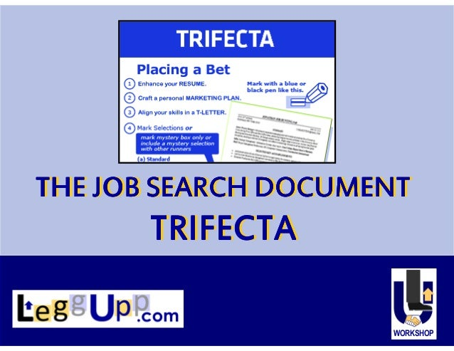 The Job Search Document Trifecta Enhanced Resume Marketing Plan T …