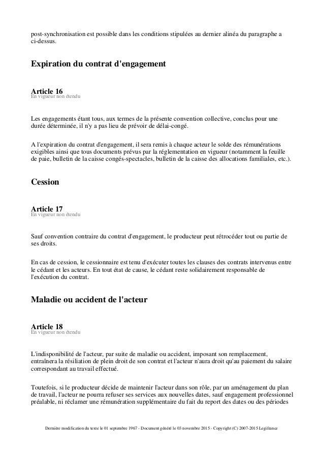 Legifrance Fr Convention Collective Des Acteur