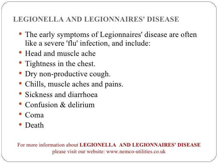 legionella and legionnaires' disease, Human Body