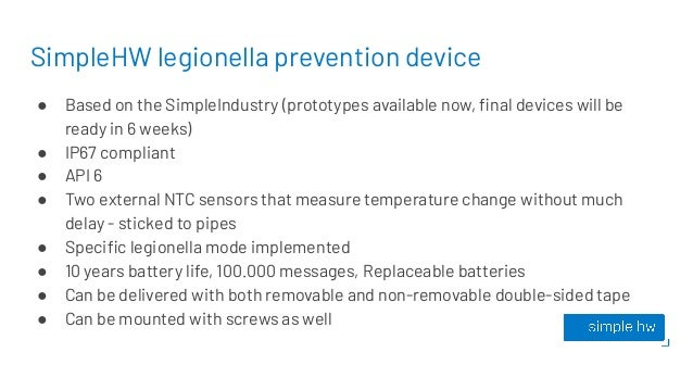 SimpleHW legionella prevention device ● Based on the SimpleIndustry (prototypes available now, final devices will be ready ...