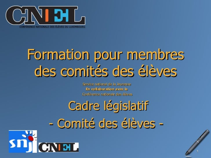 Legislative Schüler-Commitée + Délégué de classes