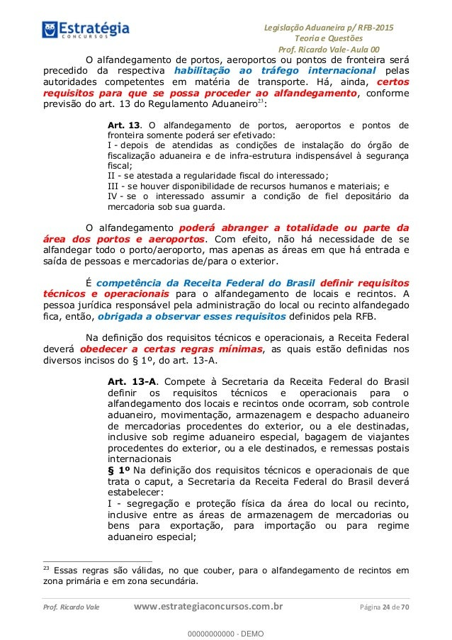 Regulamento Aduaneiro Pdf