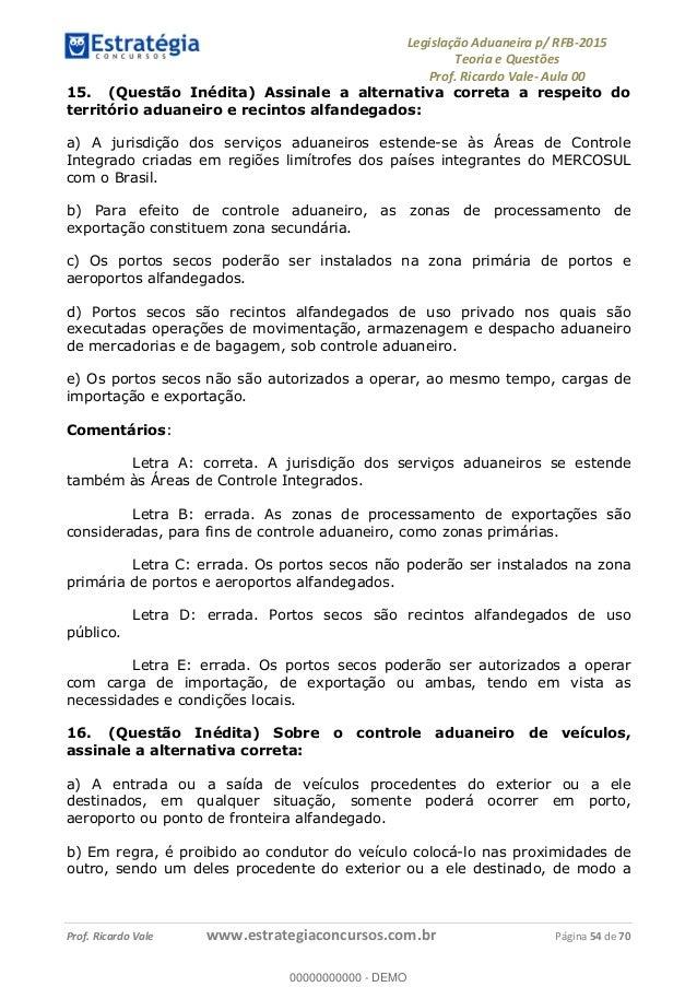 Legislacao Aduaneira para Concurso Receita Federal 2015