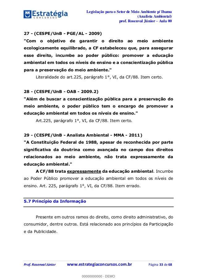 legislação do meio ambiente p concurso ibama9443 Constituicao Federal De 1988 Artigo 225 #8