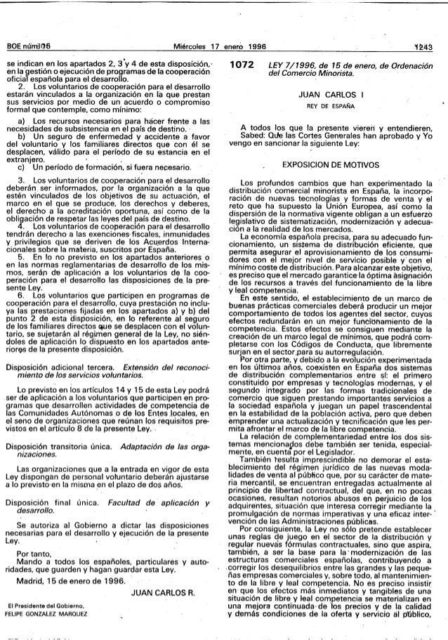 """BOE n(,ni3Cl6 MiercoJes 17 enero 1996 se indican en tos apartados 2~ 3'y 4 de. esta disposiciôn,' en la""""gestiôn 0 ejecuciô..."""