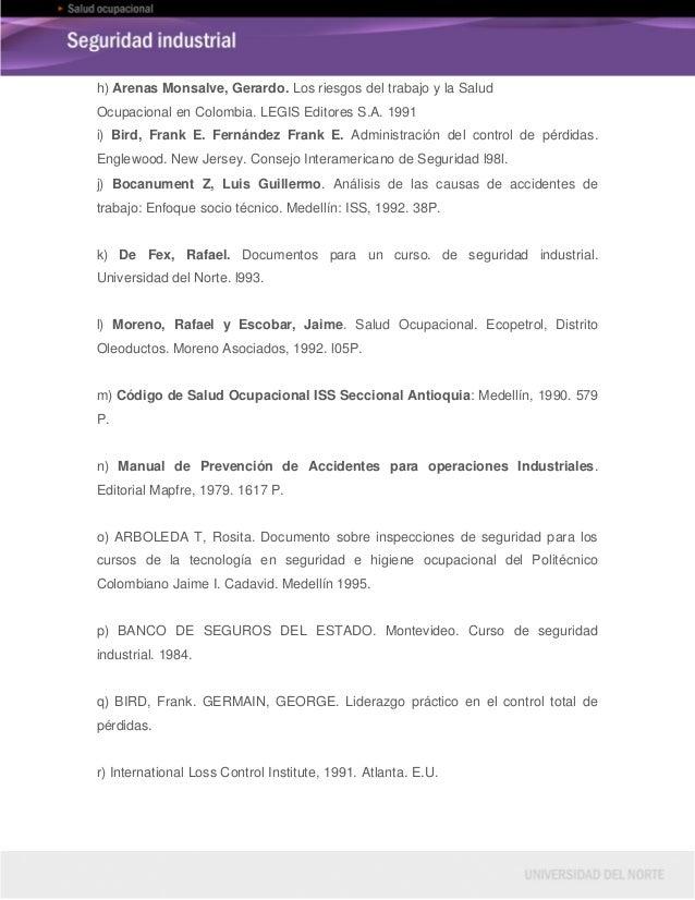 Legislaciu00f3n en seguridad y salud ocupacional en colombia