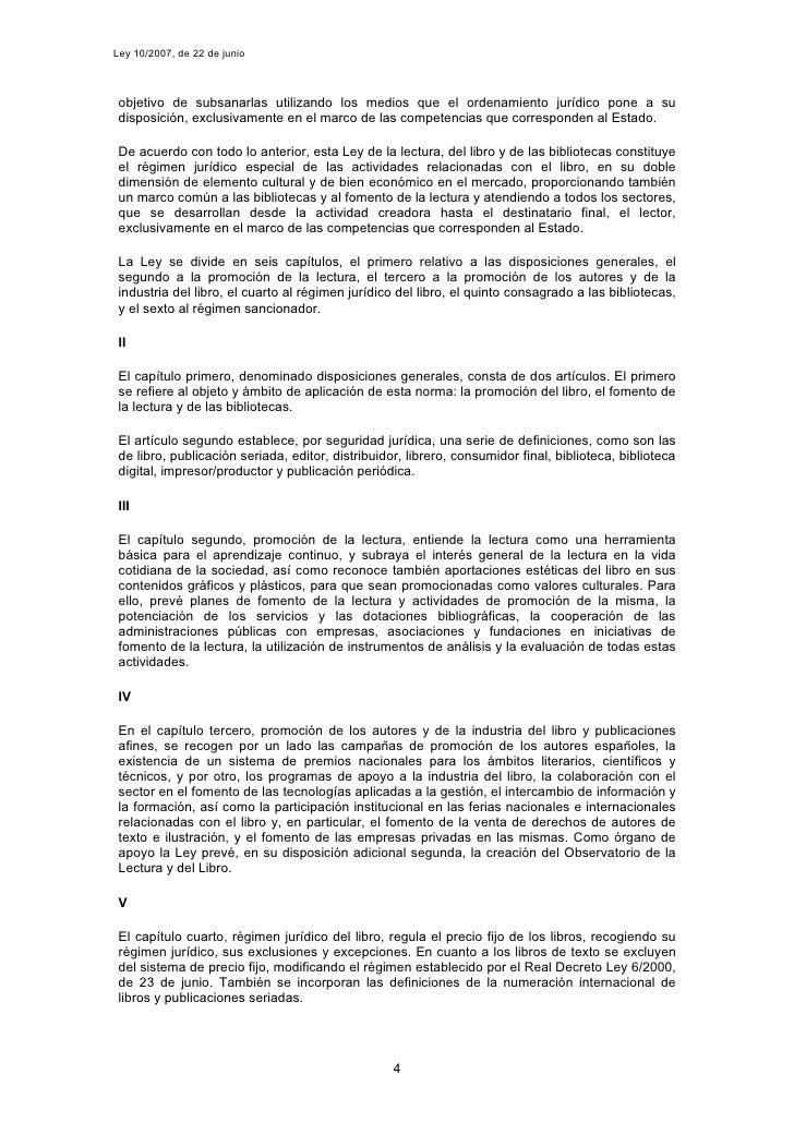 Ley 10/2007, de 22 de junio     objetivo de subsanarlas utilizando los medios que el ordenamiento jurídico pone a su  disp...