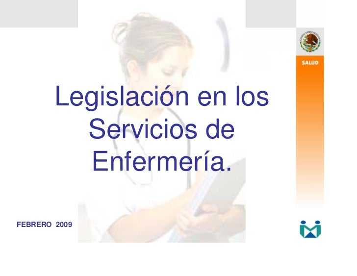 Legislación en los          Servicios de          Enfermería.FEBRERO 2009