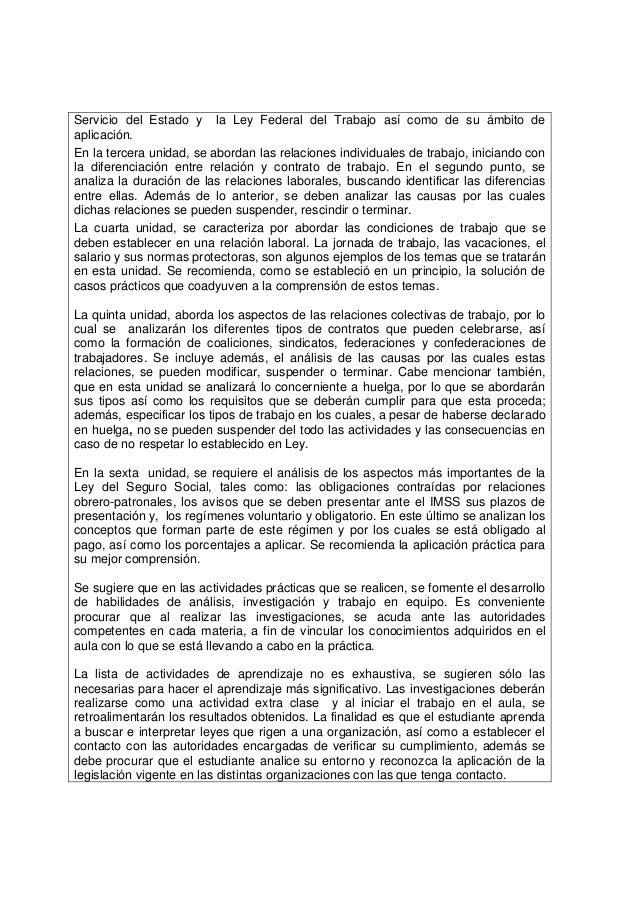 Temario legislacion laboral for Contrato laboral para empleadas domesticas