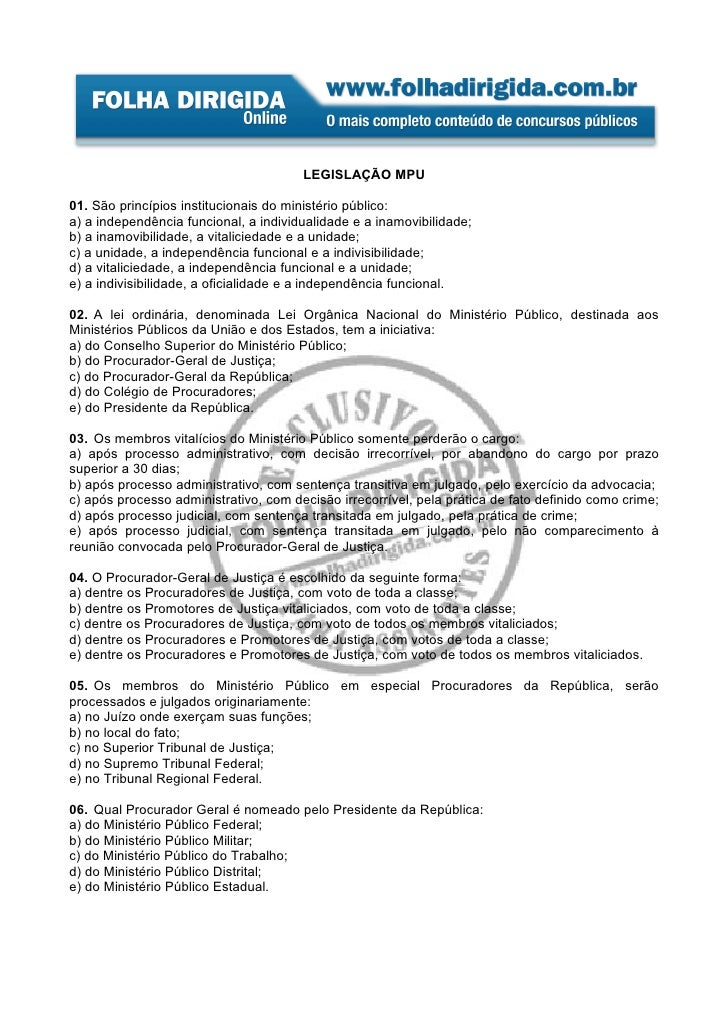 Legislação MPU - 3