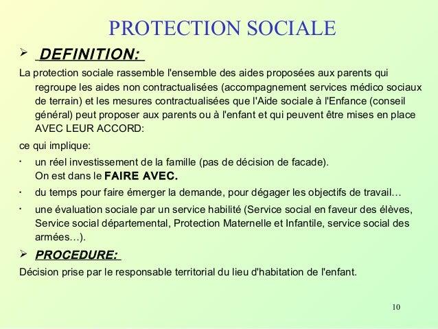 aide sociale definition