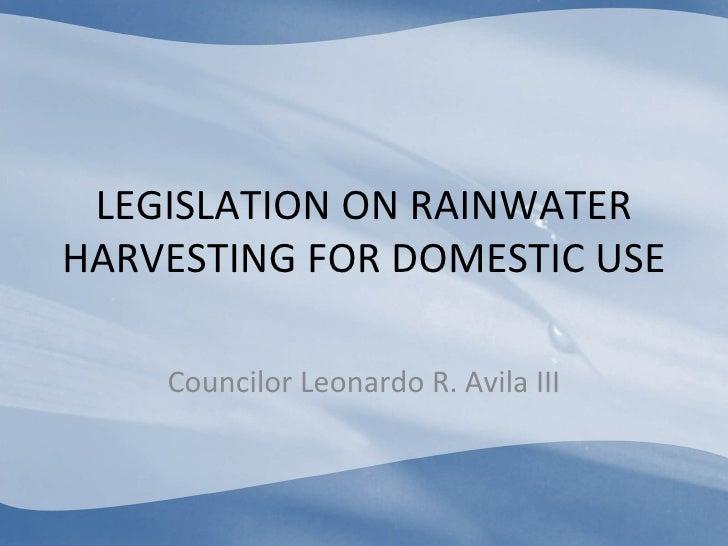uses of rainwater harvesting pdf