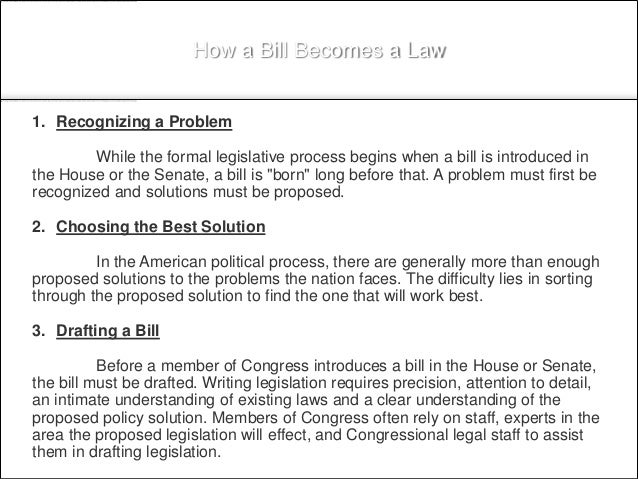 Legislation And Health Care Policy