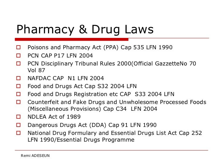 legislation and regulation for best practices in pharmacy