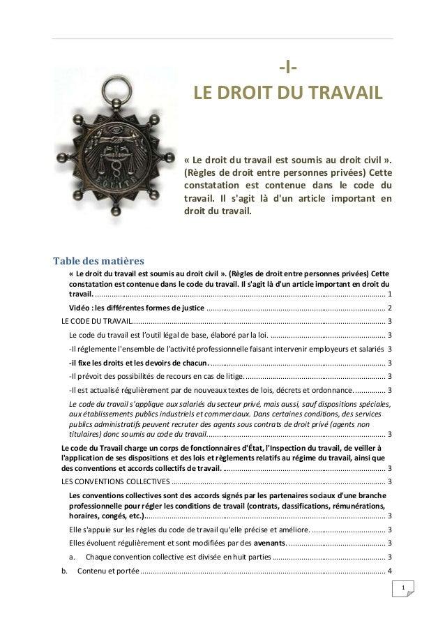 -I-                                                                LE DROIT DU TRAVAIL                                    ...