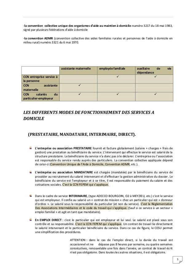 Legislation du travail ass. vie dependance &