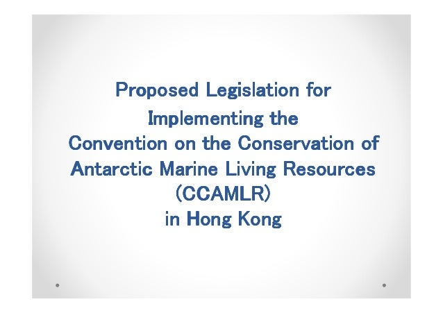 Proposed Legislation forProposed Legislation forProposed Legislation forProposed Legislation for Implementing theImplement...