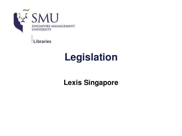 Legislation Lexis Singapore