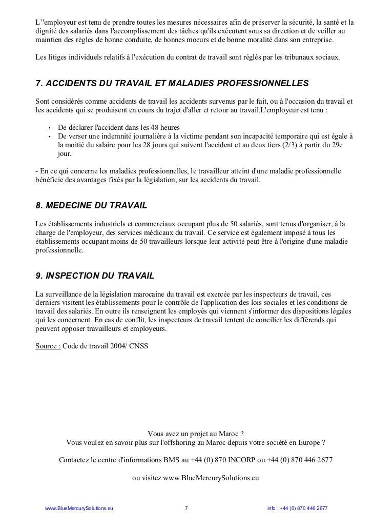 code du travail marocain word