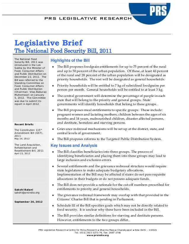 a policy brief of nsa reform 4 what is a policy brief •a short document that presents the findings and recommendations of a research project to a non-specialized audience •a medium for exploring an issue and.