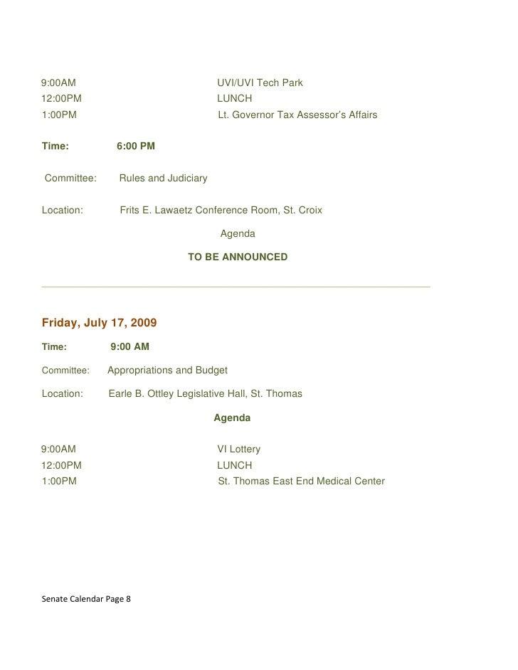 9:00AM                                   UVI/UVI Tech Park 12:00PM                                  LUNCH 1:00PM          ...