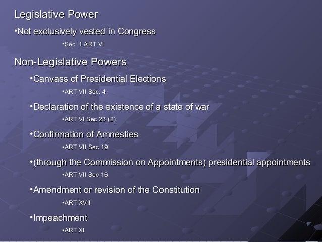 Basic Consti Law for Undergrads: Legislative department Slide 3