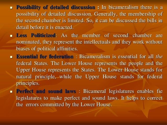 advantages and disadvantages of bicameralism
