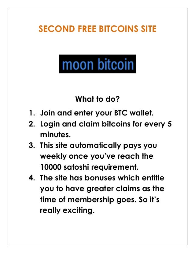 Two Legit Sites That Offers Bitcoins For Free Without Investing