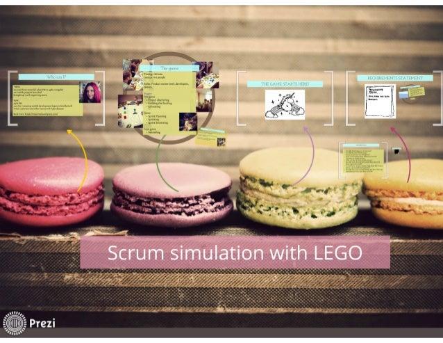 Scrum simulation with Lego, 2013