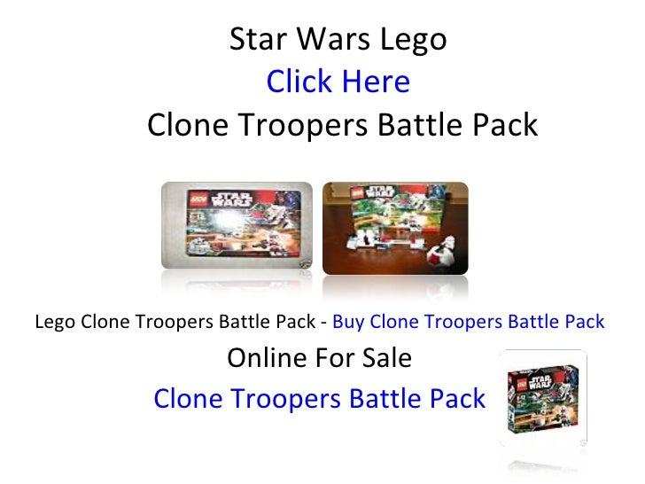 Star Wars Lego Click Here  Clone Troopers Battle Pack Lego Clone Troopers Battle Pack -  Buy Clone Troopers Battle Pack On...