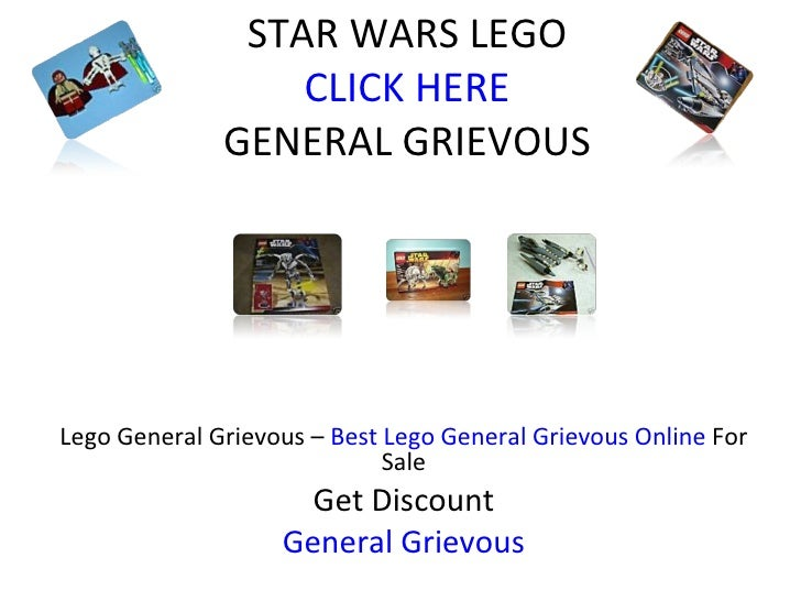 STAR WARS LEGO CLICK HERE GENERAL GRIEVOUS Lego General Grievous –  Best Lego General Grievous Online  For Sale Get Discou...