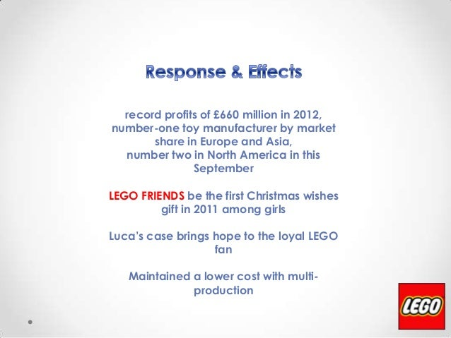 """lego turnaround strategy The main criticism on lego's strategy is the risk of over-expansion and """"out of the box"""" thinking in the case of lego, a diversification strategy means constant innovation to create."""