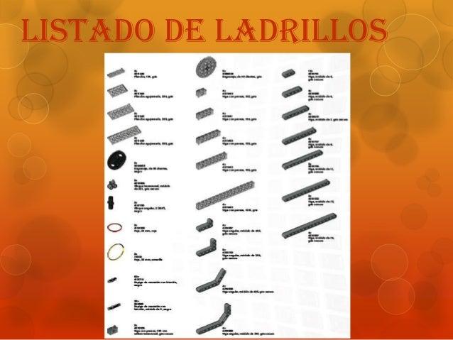 Listado de ladrillos
