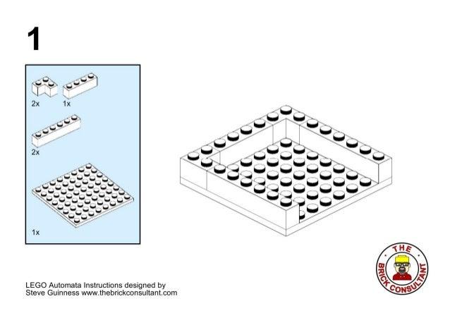 Lego automata basic unit instructions: Steve Guinness