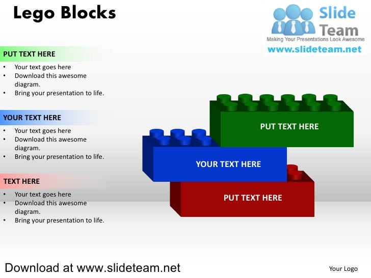 Lego blocks and pieces stacked on top of one another powerpoint diag lego blocksput text here your text goes here download this awesome diagram ccuart Images